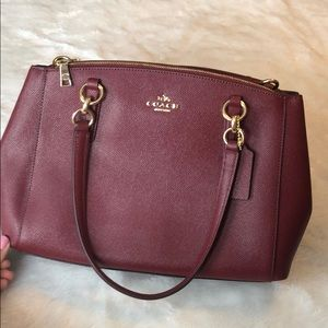 Like New• Deep Red Authentic Coach Purse